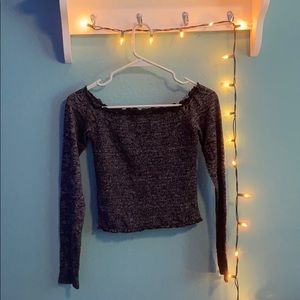 Hollister off the shoulder long sleeve shirt